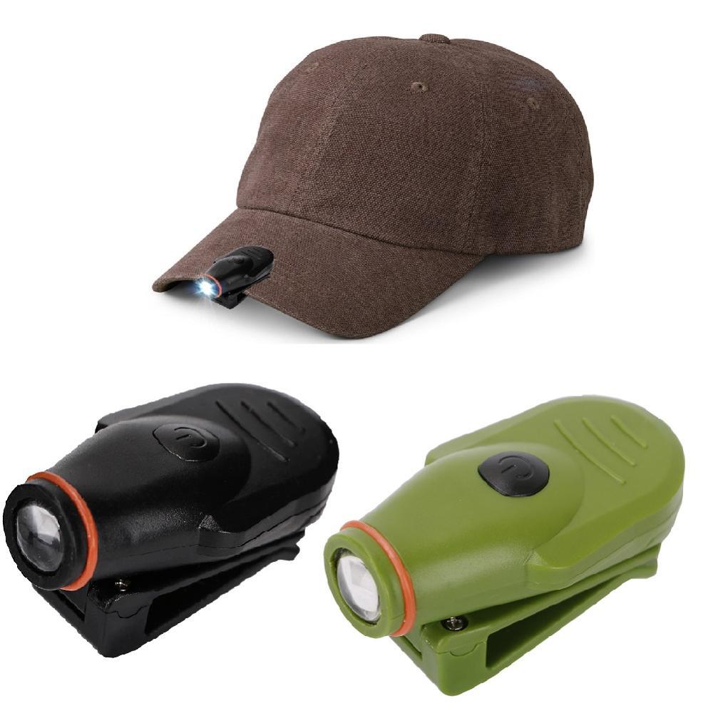 Minilinterna de cabeza con tapa de linterna LED, linterna, faro delantero, pinza para pesca y caza, para acampar, con batería integrada