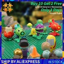 Plantas vs Zombies figuras bloques de construcción figuras de acción PVZ LegoED juego de rol batalla juguetes de aprendizaje para niños colección de juguetes para adultos regalo de cumpleaños para niños y niñas