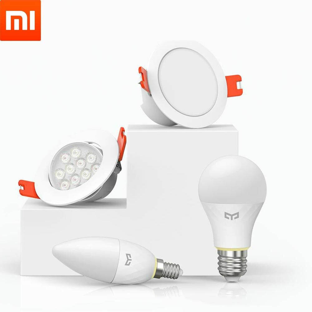 Original Xiaomi Mijia Yeelight E14 Trabalho Lâmpada Downlight Holofotes de Luz Inteligente de Casa Inteligente Com Yeelight Gateway para Mi Casa App