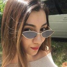 BLMUSA Metal Vintage Sunglasses Women Fashion Women's  Small Frame  Cat's Eye Sunglasses Couple Eyew
