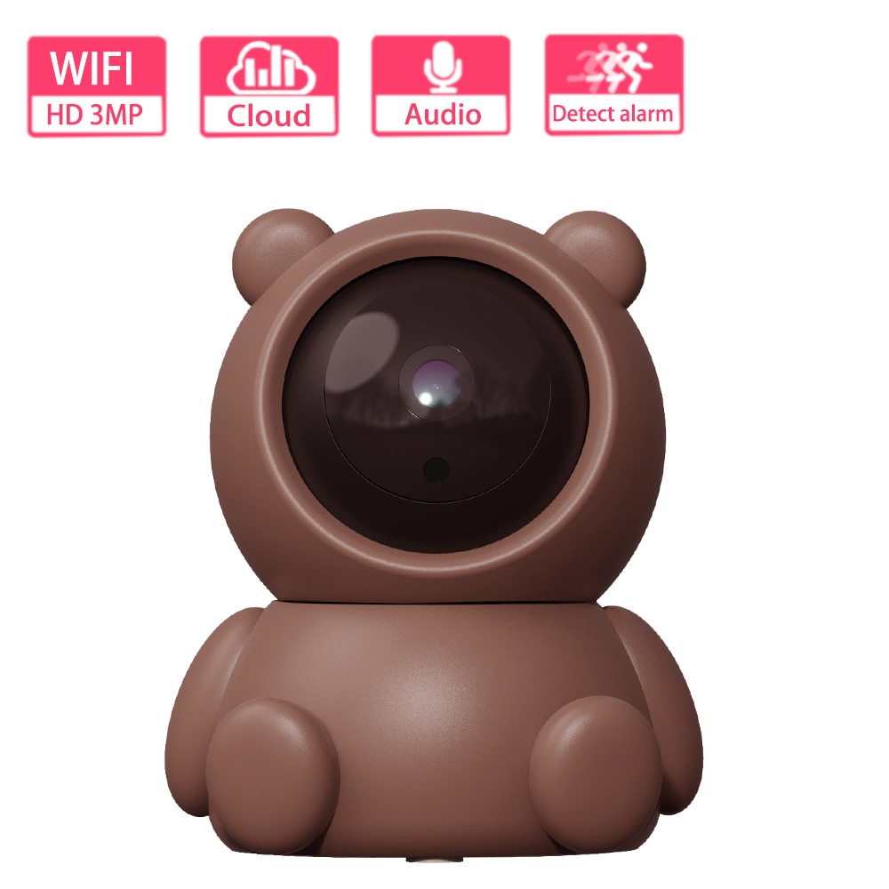 hd 1080p wifi smart camera outdoor 3mp wireless secure night vision camera baby monitor home safety surveillance camera IP Camera WIFI Wireless Home Security Camera HD 3MP Tracking Baby Monitor Vision Surveillance Camera YCC365 Cloud HD Wifi Camera