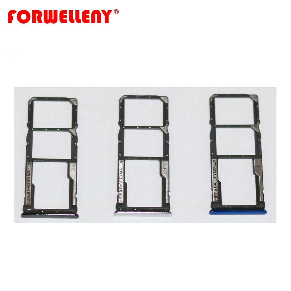 For xiaomi  Xiomi redmi note8 note 8  Micro Sim Card Holder Slot Tray Replacement Adapters black silver blue недорого