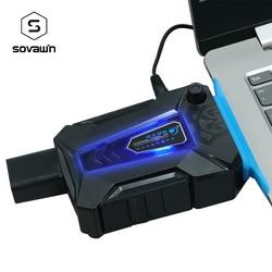 Universal Notebook Lüfter Kühler USB Luftkühler Extrahieren Dunst CPU Kühlung Notebook Für Laptop 17 15,6 15 Zoll Lüfter