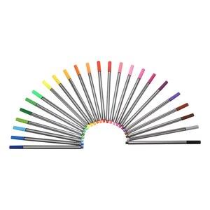 24 Colors 0.4mm Fineliner Pens Set Painting Sketching Marker Needle Tube Pen Fineliners Hook Line Pen DIY Art School Supply