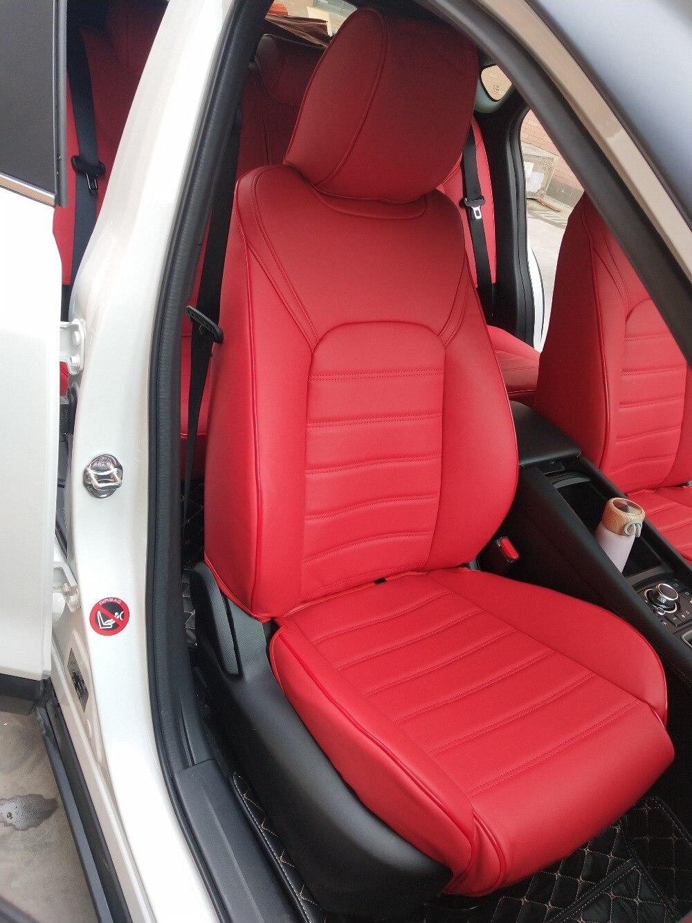 Gewohnheit alle echte echtem Leder auto sitz abdeckung für auto Mercedes Benz ML GLA GLK GLE S E G Klasse auto zubehör auto styling