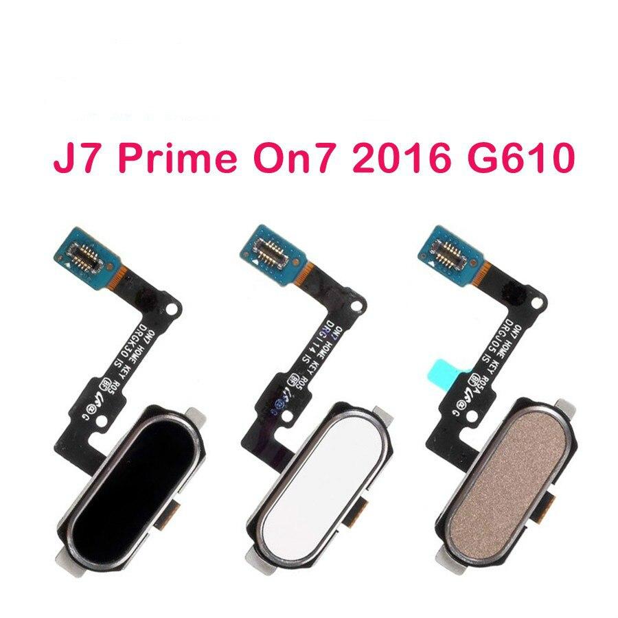 Запасной гибкий кабель с кнопкой возврата отпечатков пальцев для samsung Galaxy J7 Prime On7 2016 Home J5 Prime On5 2016 G570 G610
