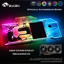 Bykski A-AS5700XTTUF-X Volle Abdeckung GPU AURA SYNC Wasser Block Für ASUS TUF3-RX 5700 XT-O8G-GAMING OC Grafikkarte Wasser kühlung