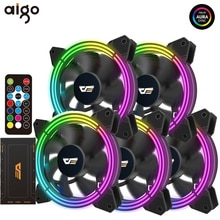 Aigo CF11 Computer Case Fan 120mm RGB fan Stille PC Koelventilator IR Remote 3 P-5 v asus Aura Sync Fans CPU Koeler LED Radiatoren