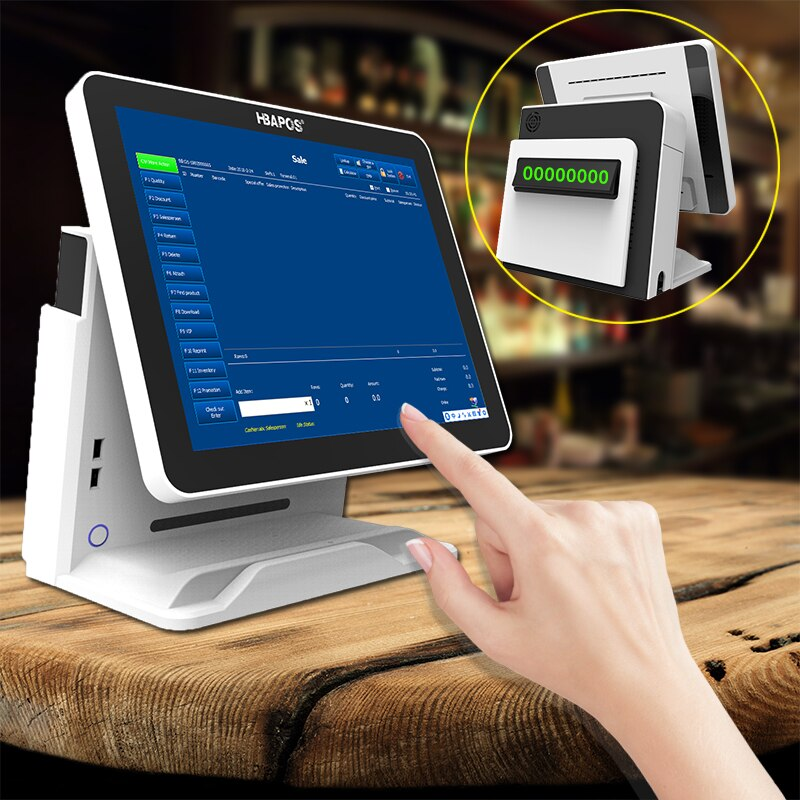 Pos system cash register pos system 15 inch touch screen monitor Display retail pos terminal windows for supermarket hardware enlarge