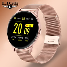 New LIGE men And women color screen Smart watch multifunctional sports heart Rate blood pressure IP6