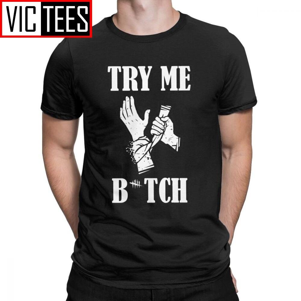 Los hombres camisetas muerto a la luz del día Tops Perk autocuidado divertido 100 algodón Premium camisetas Horror Dbd cazador de asesinos juego T camisas