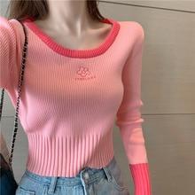 Chic Long Sleeve Shirt Women Knitted Bottomed Women Tshirt Women's Slim Design Elegant Style Fashion