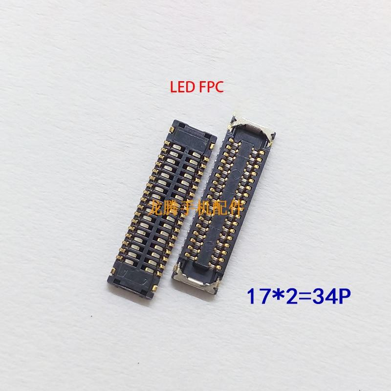 LCD Display FPC Connector Plug MotherBoard Pin For Huawei Y7 2019 Y7 prime 2019 Y6 2019 P smart + 2019 P smart 2019