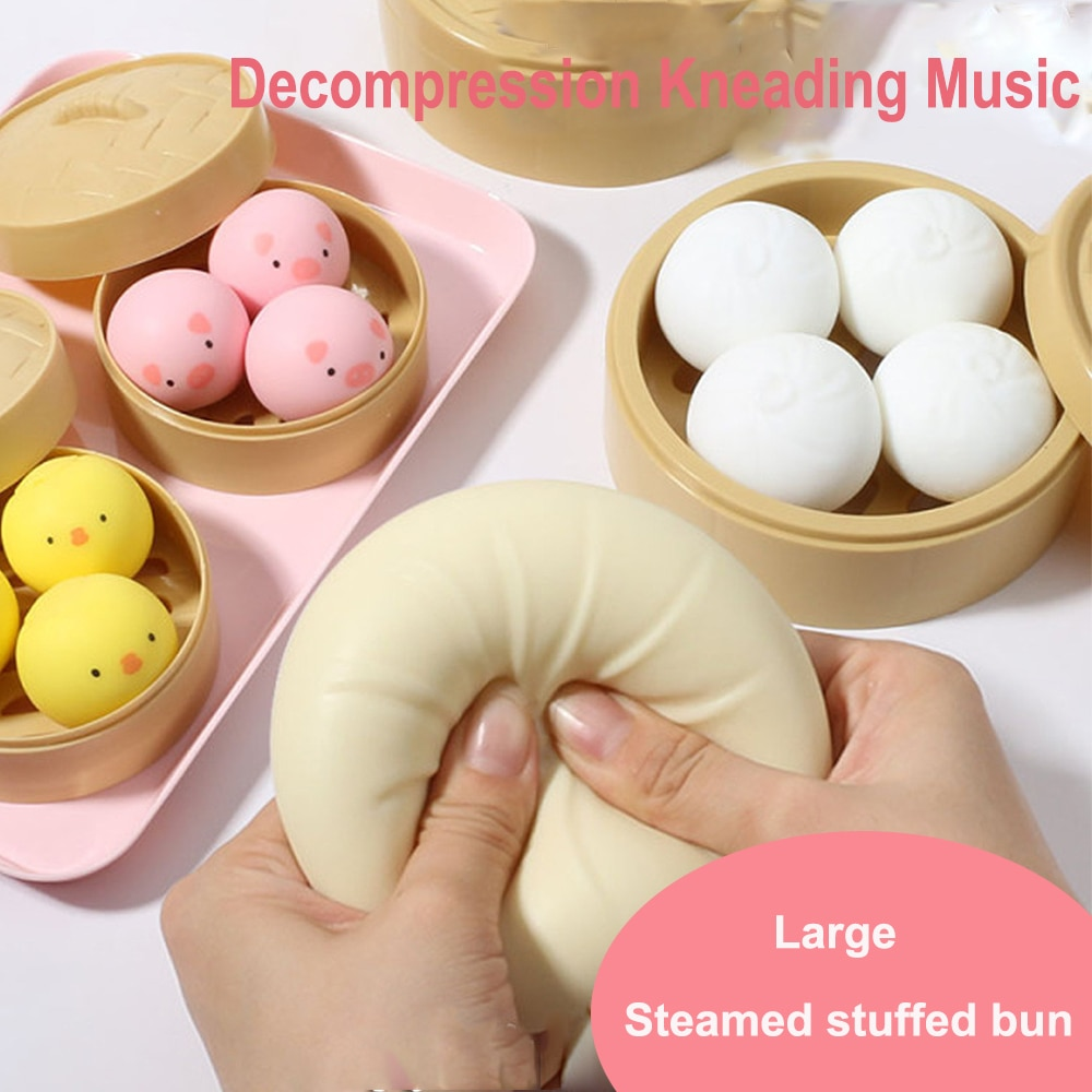 Squeeze toys Soft toy Anti stress toy Steamer Of Steamed Stuffed Bun Fidget Sensory Toy Children Adults Vent Prank Sensorial toy enlarge