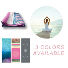 Tapis de Yoga en daim pliable tapis de Yoga Portable anti-dérapant lavable à la Machine tapis de Yoga couverture 1.2mm ultra-mince léger tapis de Yoga de voyage