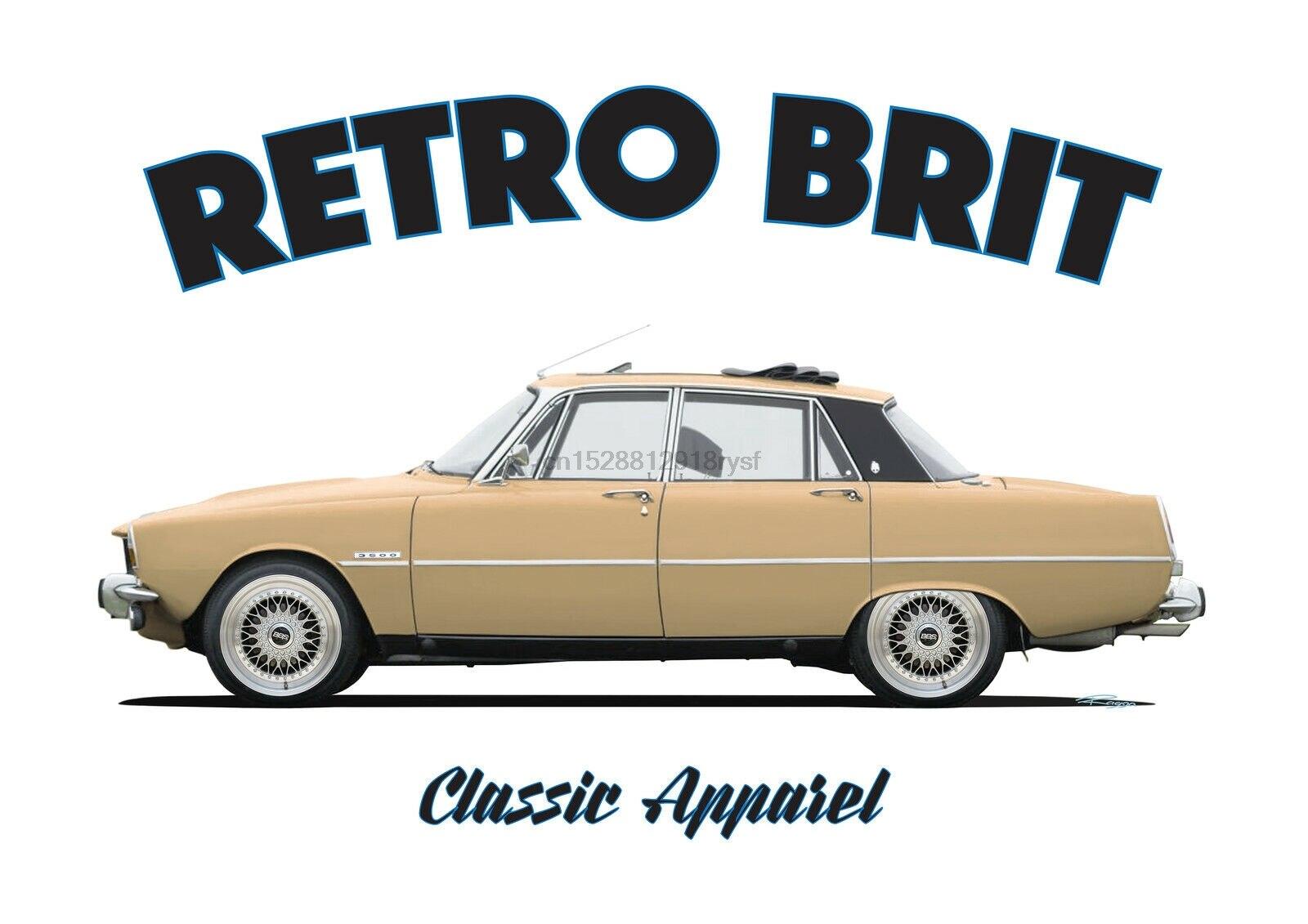ROVER P6 camiseta RETRO BRIT ¡Coche clásico! Británico ¿Modificado? V8. 3500