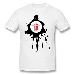 Wolfenstein T Shirt Wolfenstein T-Shirt 3xl Classic Tee Shirt Cotton Short Sleeves Graphic Mens Fun  oversized shirt  plus size