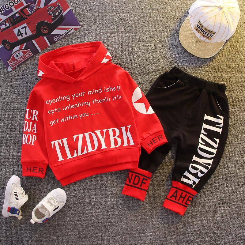 2021 Autumn Baby Clothes Children Boys Girls Sport Letters Hoodies Pants 2Pcs/sets Toddler Active Clothing Infant Kids Tracksuit