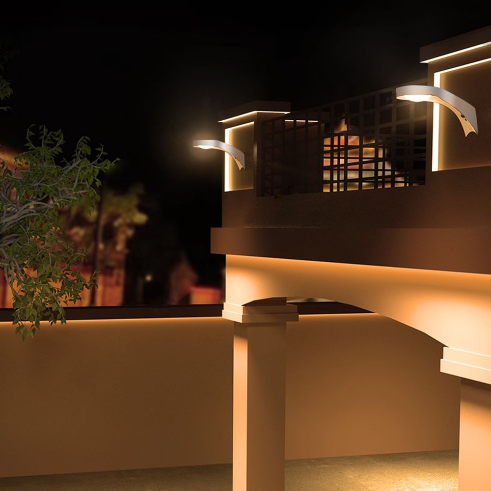Outdoor Solar Light Led Waterproof Lighting for Garden Wall Street Balcony Garden Remote Control Illumination Lamp Hanging Patio enlarge