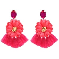 trendy boho cotton tassel pendant earrings for women dangle earring fashion ladies clothing jewelry accessories gift wholesale