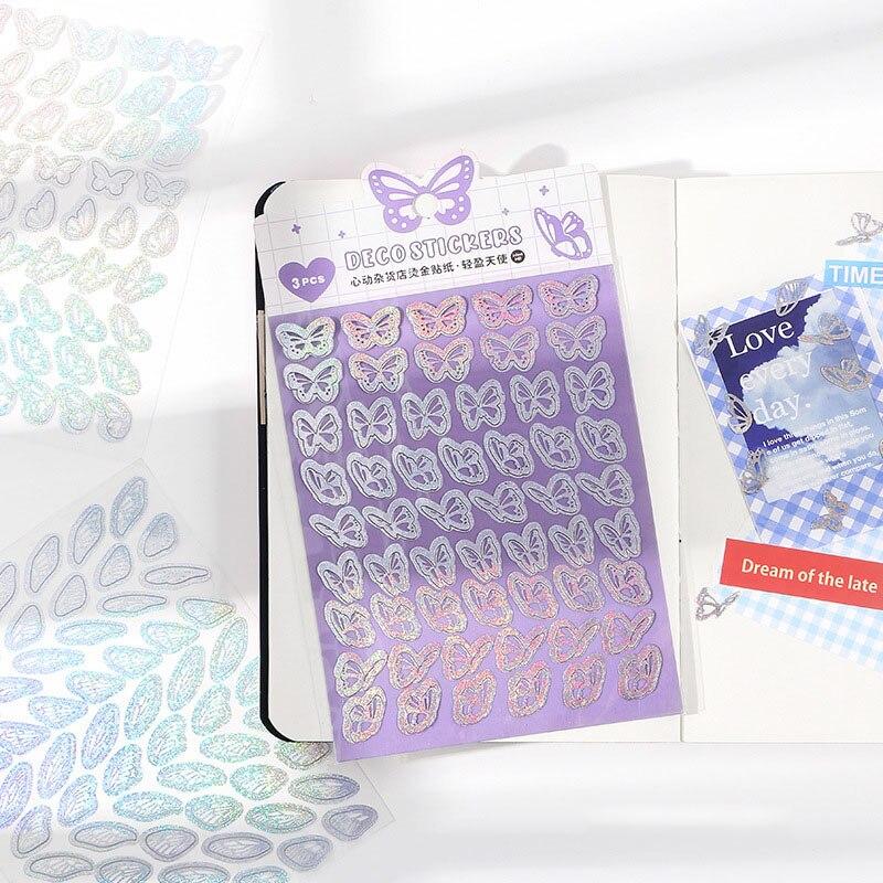 3 sztuk/paczka motyl sen miłość naklejki DIY Scrapbooking papiernicze komórkowego telefonu, komputera naklejki dekoracyjne prezenty dla dzieci