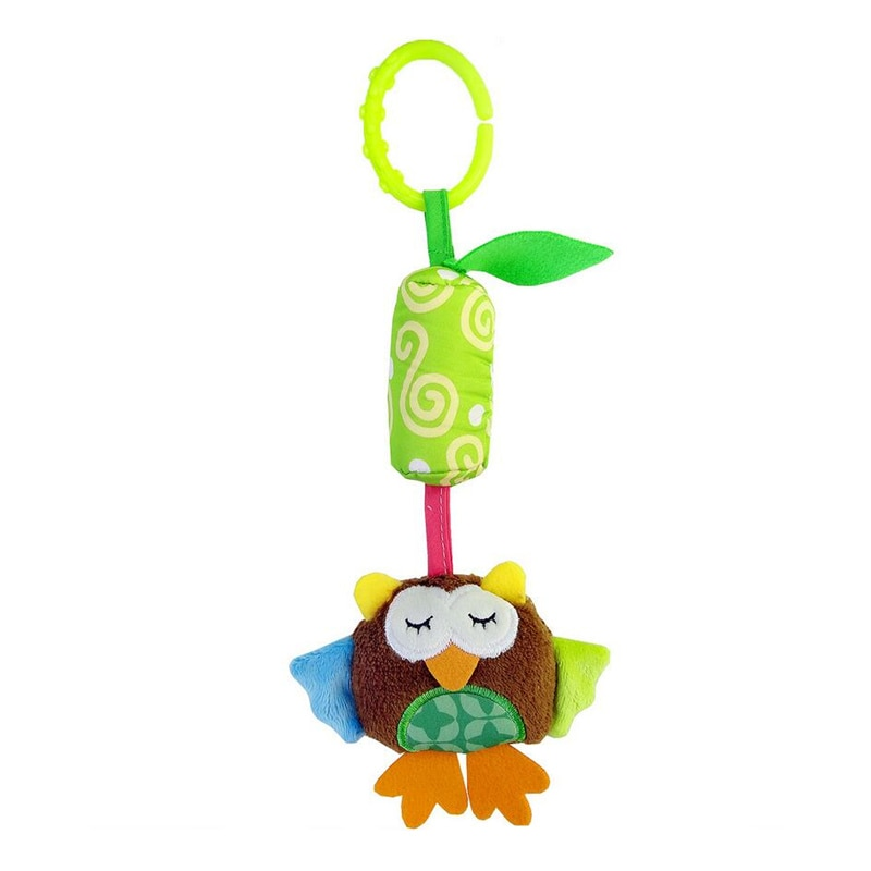 Infant Baby Cotton Rattle hand Bell Toy Animals Plush Development Gifts Toys Mobile Baby Bed Chimes Rattles Bell J0368