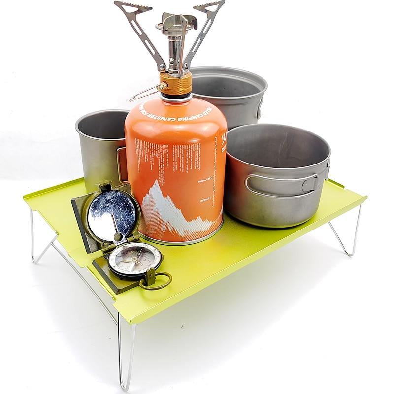 Mobiliario plegable-mesa individual-escritorio Blac placa de aluminio Picnic Mini ligero al aire libre