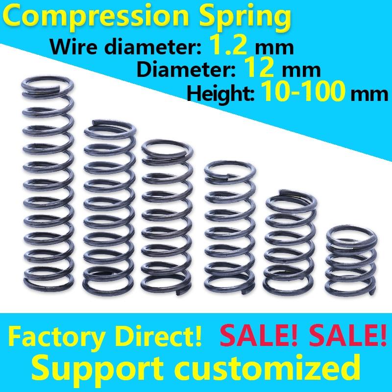 Mola de mola de bobina mola de pressão personalizado mola aços rotor retorno mola fio diâmetro 1.2mm 12mm ponto bom