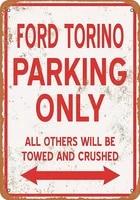 torino parking only tin sign art wall decorationvintage aluminum retro metal sign