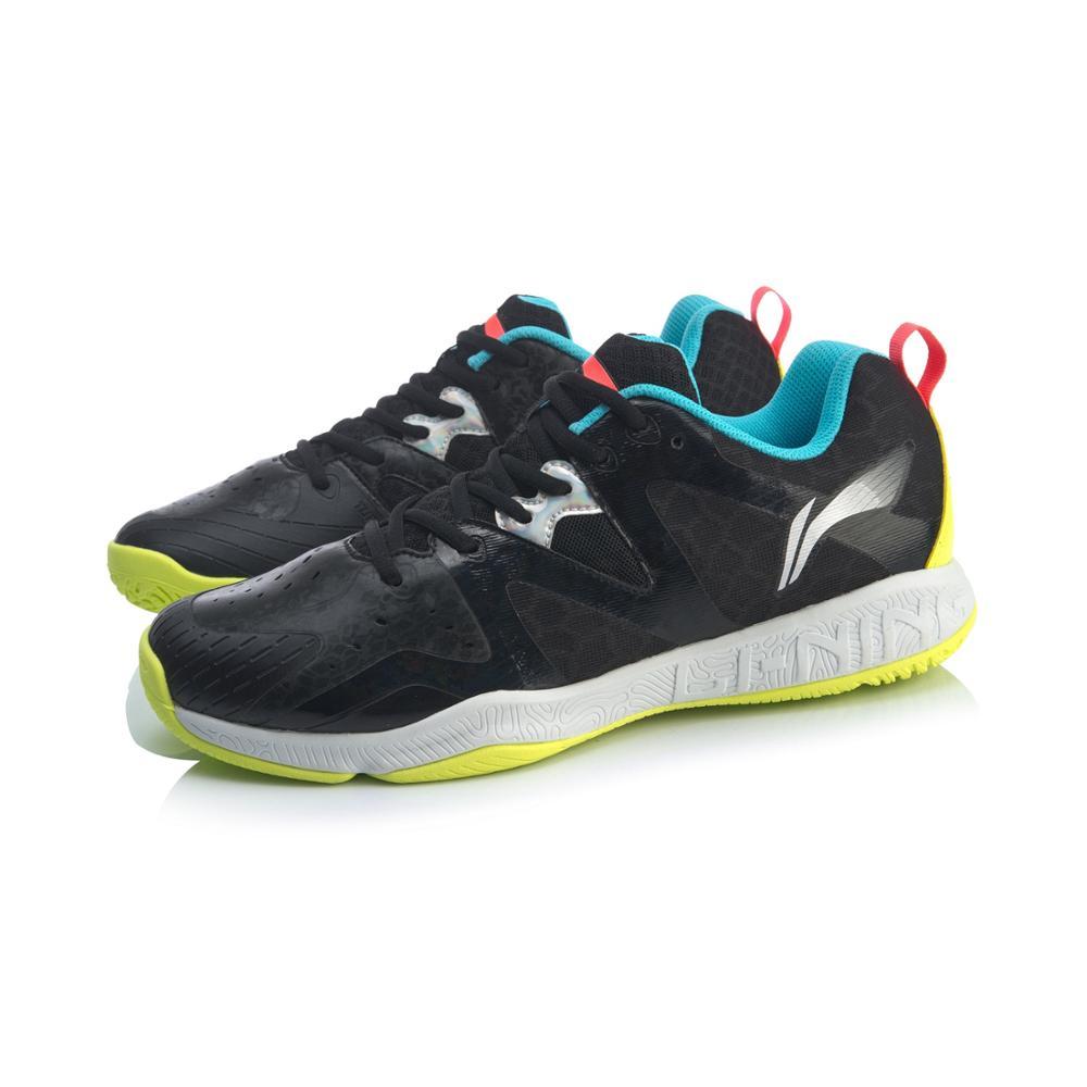 (Перерыв код) Li-Ning Для мужчин бадминтон тренировочные кроссовки из дышащего материала светильник-Вес подкладка стабильный Поддержка Спортивная обувь Кроссовки AYTQ003-3