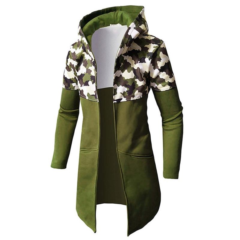 Otoño suéter con capucha invierno para hombre de chaqueta de camuflaje Casual...