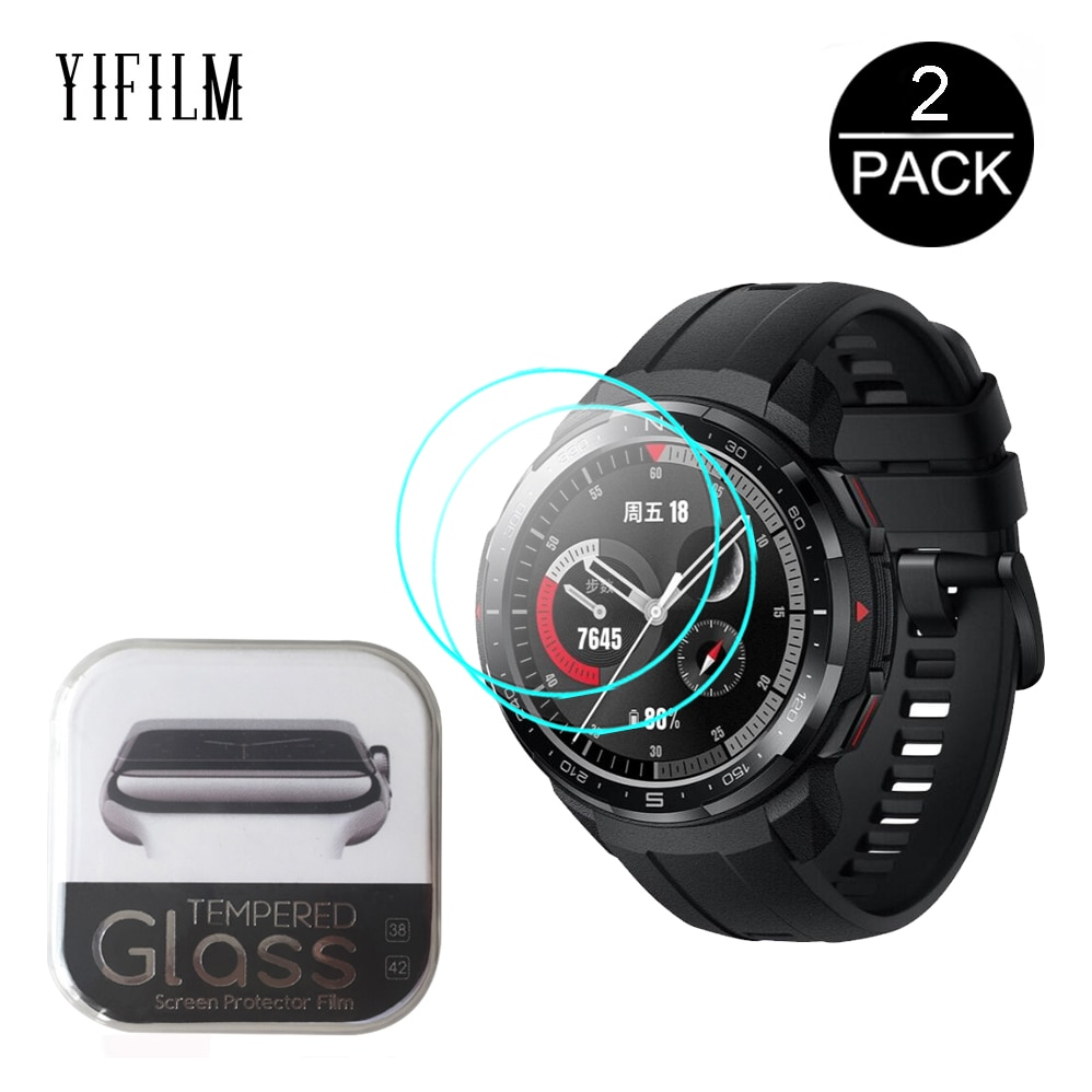 2pcs 2.5D 9H HD Clear Tempered Glass For Huawei Honor Watch GS PRO Smart Watch Screen Protector Anti