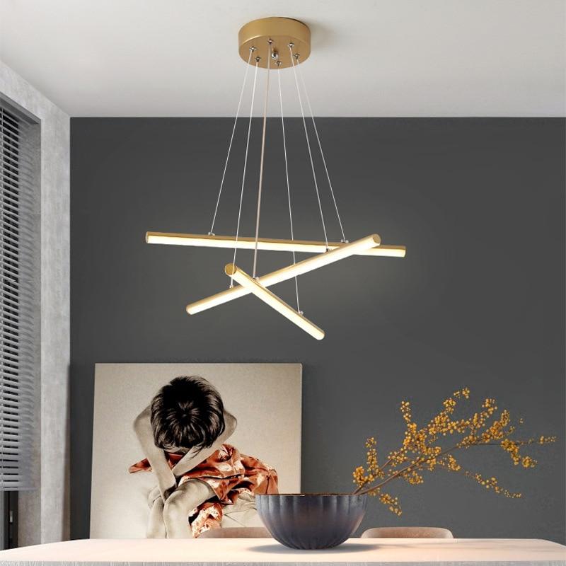 الحديث LED الحد الأدنى الثريا غرفة نوم غرفة الطعام المطبخ بار الإنارة الإبداعية شخصية فاخرة المنزل ثريّا متدلية
