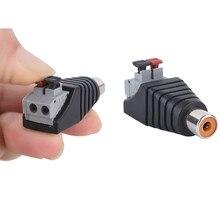 1pc Lautsprecher Draht Kabel Zu Audio Männlichen Kabel Professionelle Jack Presse Stecker RCA Stecker Adapter Kabel