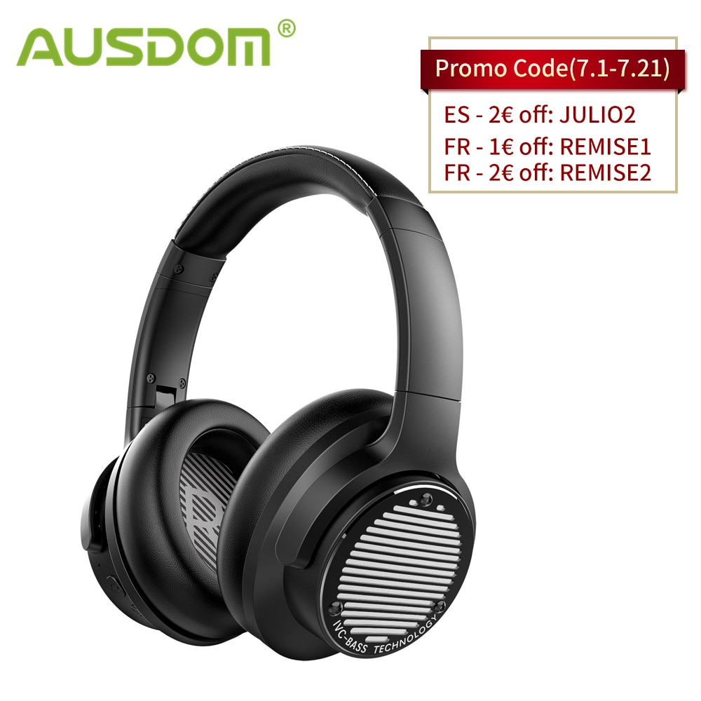 سماعة أذن AUSDOM BASS ONE اللاسلكية, تأتي مع باس عميق للغاية ، وبلوتوث 5.0