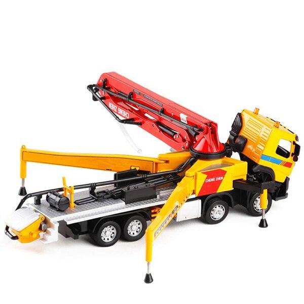150 aleación modelo de coche camión acústico-óptica camión bomba de hormigón de adultos de Metal adornos ChildrenS Navidad Año nuevo regalo de Juguetes