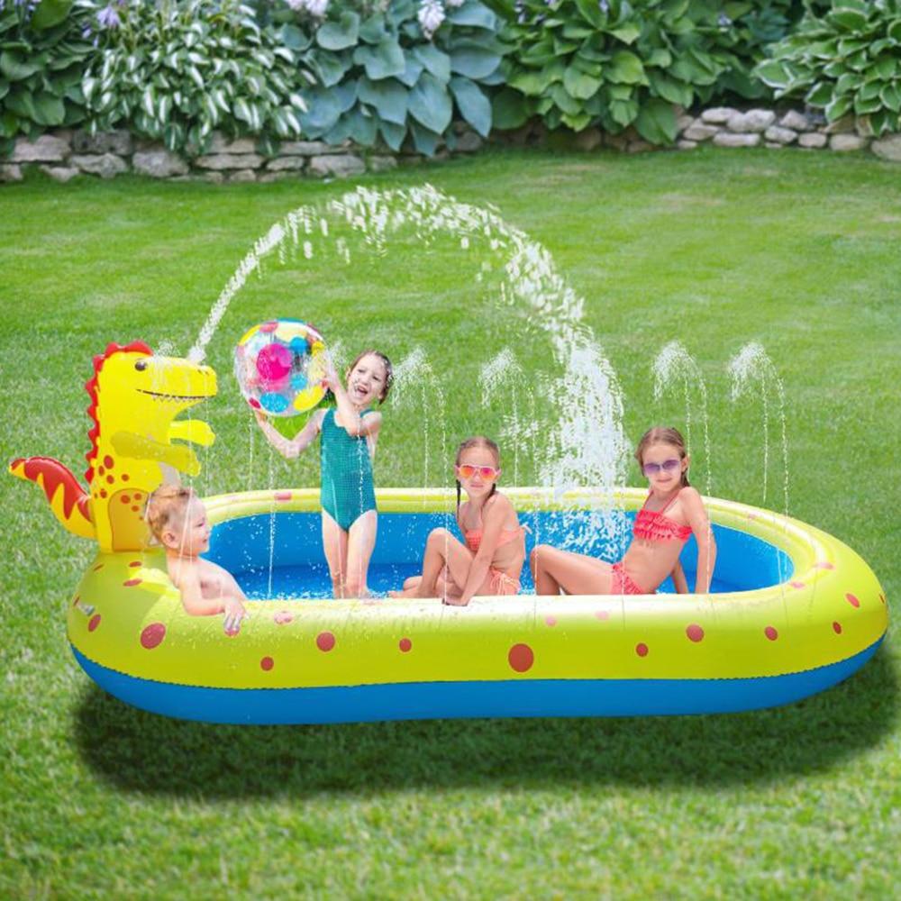 Inflatable Pool Kids Toys Circle For Bathing Children Aquapark Children Pool Swim Float Water Fun PoolToys Fountain Watering Mat