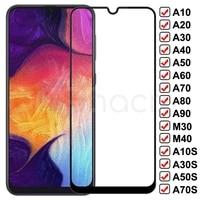 Vetro temperato 9D per Samsung Galaxy A10 A20 A30 A40 A50 A60 A70 A80 A90 vetro protettivo M10 M20 M30 M40 A10S A30A A50S A70S