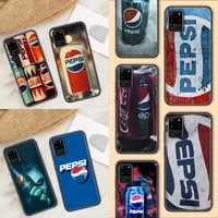 pepsies sparkling drink phone case for samsung galaxy note 4 8 9 10 20 s8 s9 s10 s10e s20 plus uitra ultra black pretty funda