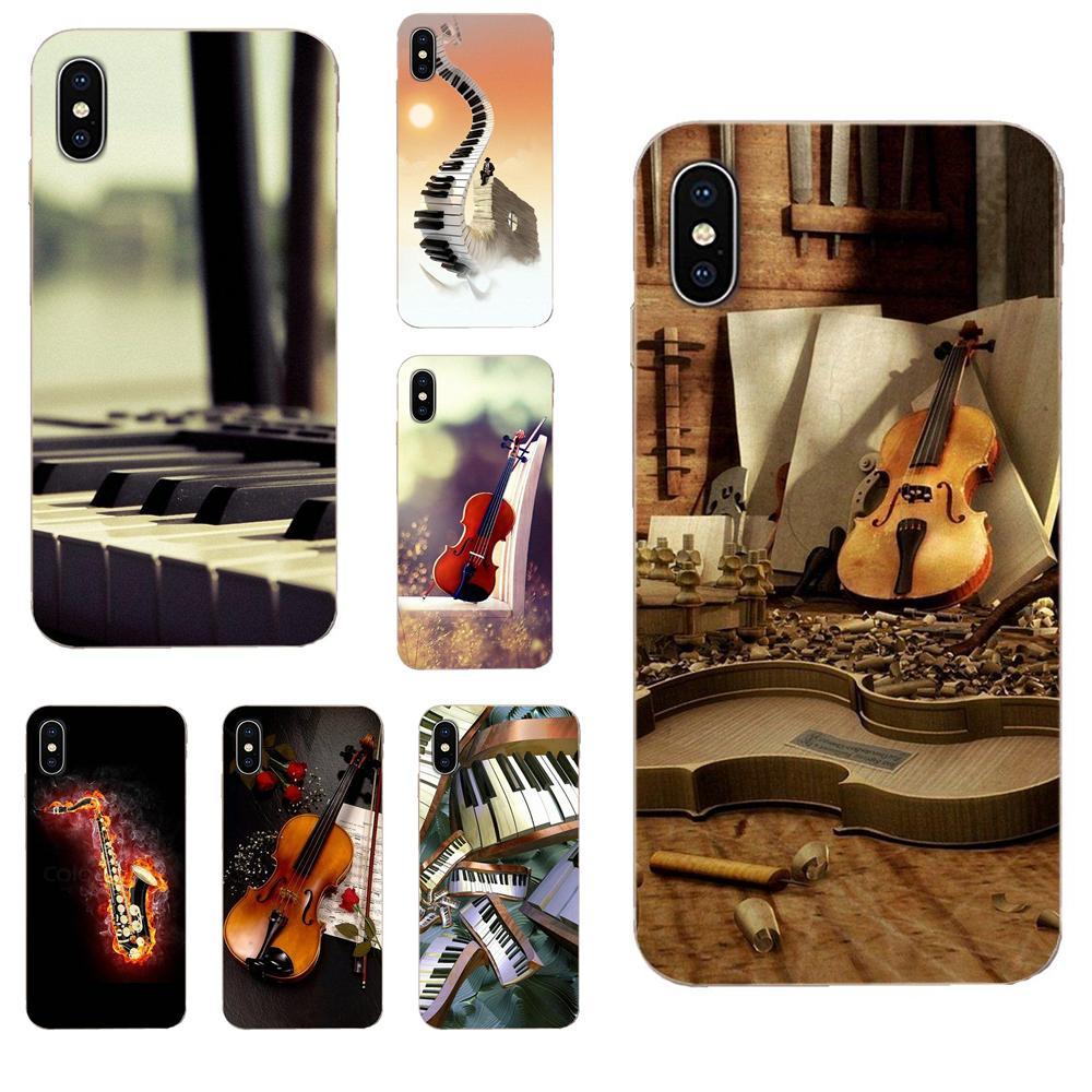 Soft Print Cover Case For Xiaomi Mi3 Mi4 Mi4C Mi4i Mi5 Mi 5S 5X 6 6X 8 SE Pro Lite A1 Max Mix 2 Note 3 4 Saxophone Violin Pinao
