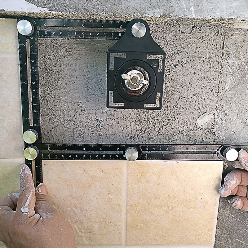 Constructie multi-hoek meetliniaal aluminium opvouwbare - Bouwgereedschap - Foto 4