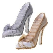 Zapato de tacón alto expositor de anillos joyería titular boda cumpleaños regalo de Navidad Idea