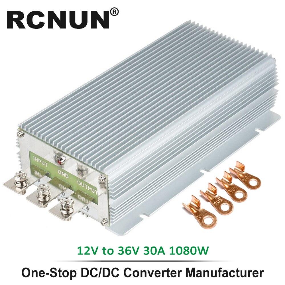Calidad Industrial Step-up DC convertidor 12V a 36V 30A impermeable Boost Module convertidores de potencia CE RoHS