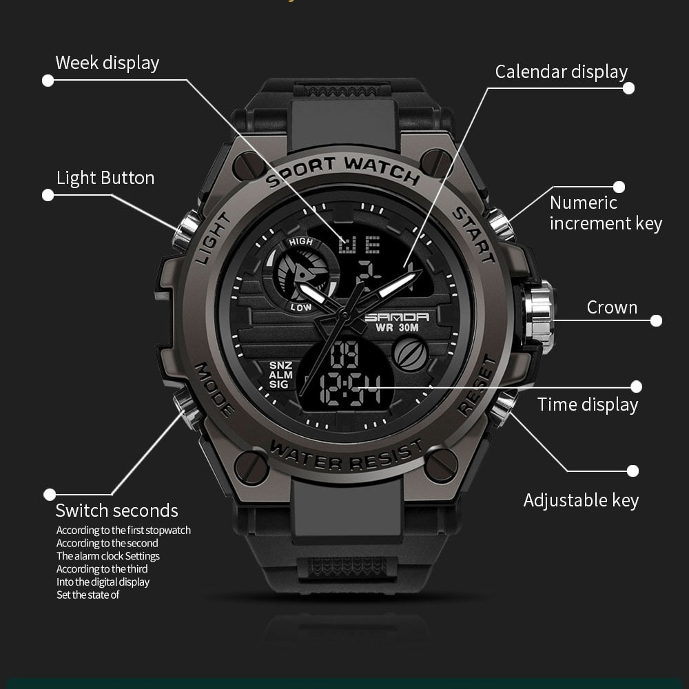 Women Men Digital Wristwatch Outdoor Adventure Casual Watches Alarm Calendar Luminous Watch Waterproof Fashion Wristwatch enlarge
