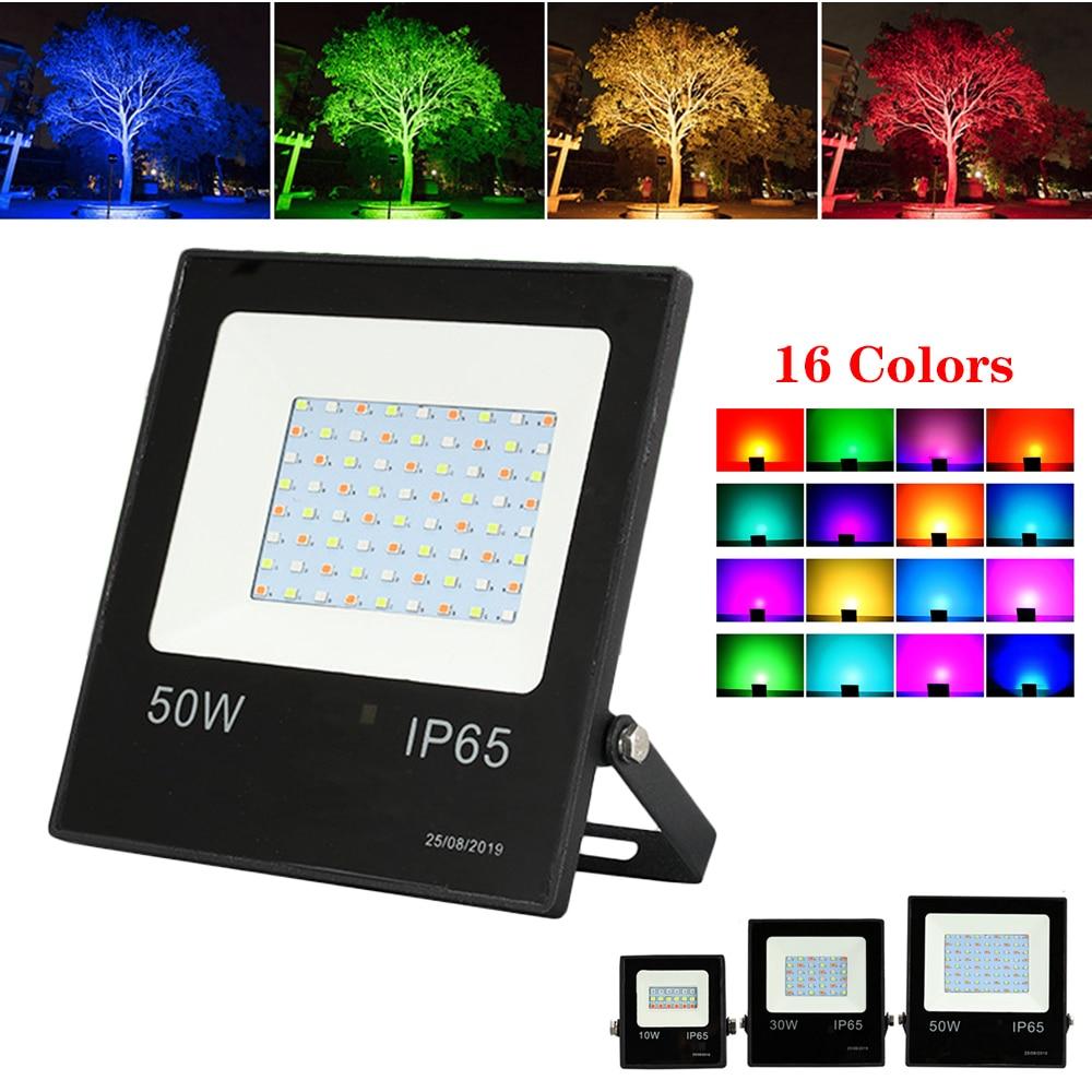 1 комплект Светодиодный прожектор 10 Вт 30 50 RGB точечный светильник 220 В уличный