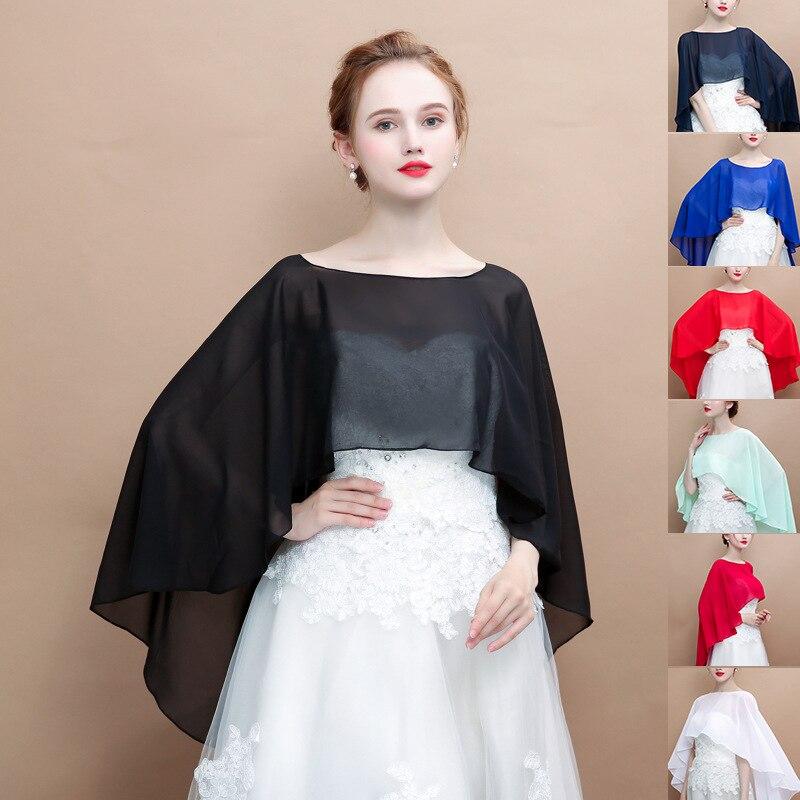 Новый шифоновый однотонный пуловер расширяет женскую церемониальную шаль