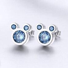Modyle-boucles doreilles Mickey pour femmes, couleur argent, souris, boucle doreille, bijoux, idée cadeau