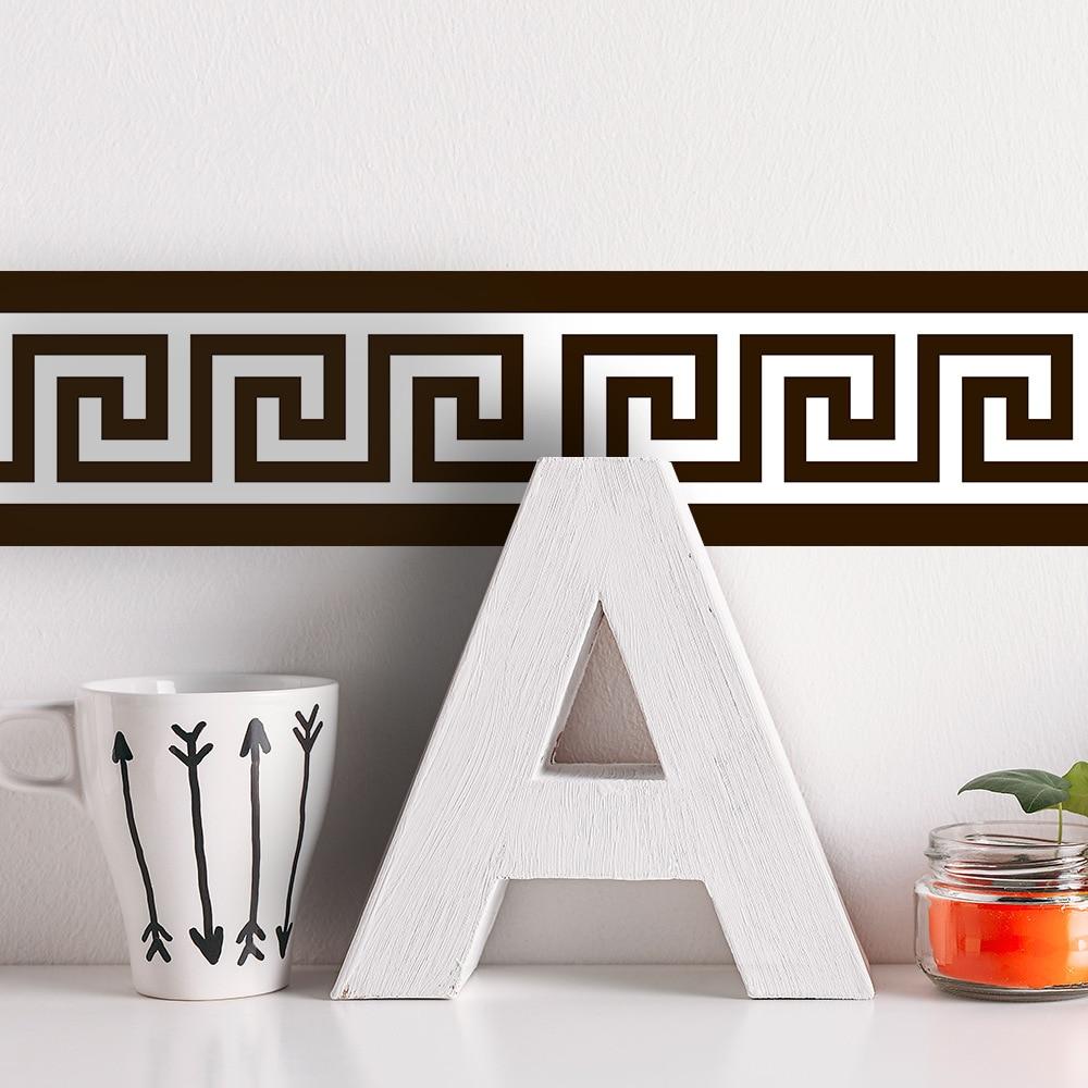 Настенные обои Funlife с греческими гранями, самоклеящиеся наклейки на стену для декора ванной комнаты и дома, водонепроницаемые наклейки «сде...