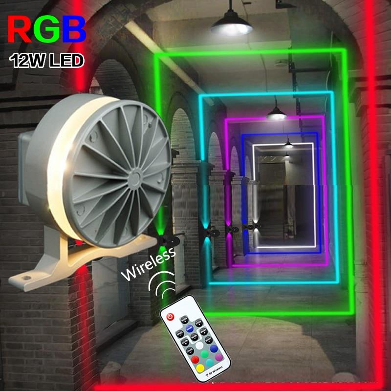 مصباح حائط لاسلكي RGB LED لإضاءة نافذة KTV ، للفيلا ، باب الفندق ، البار ، الممر ، بلوتوث 360 درجة