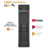 Souris intelligente sans fil G40S  2 4 go IR  433 Mhz  pour Android  boitier TV  Netflix  Google Assistant  telecommande universelle pour maison connectee